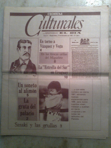 el dia cronicas culturales la estrella del sur 27/12/87