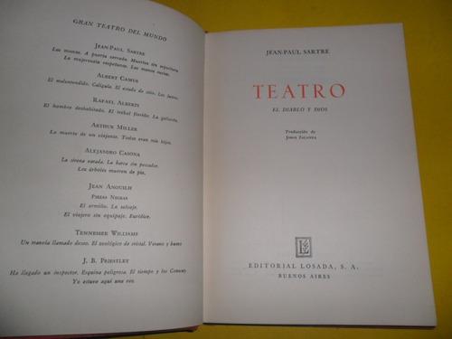 el diablo y dios teatro jean paul sartre 1952 losada