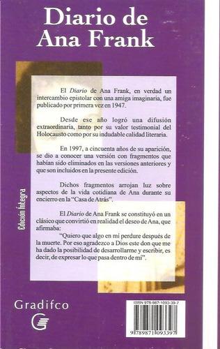 el diario de ana frank - libro nuevo