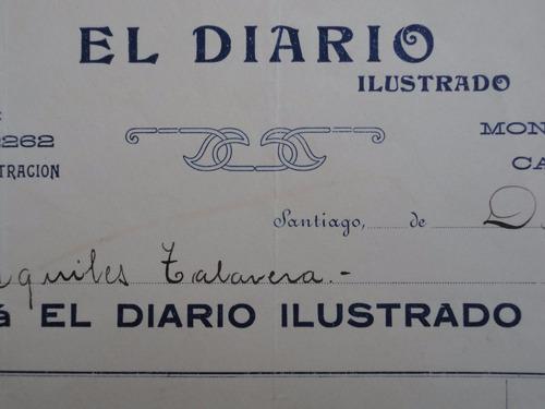 el diario ilustrado factura antigua santiago 1913