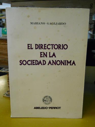 el directorio en la sociedad anónima - mariano gagliardo