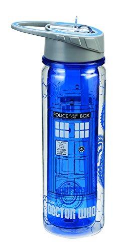 el doctor who 18 oz. botella de agua tritan