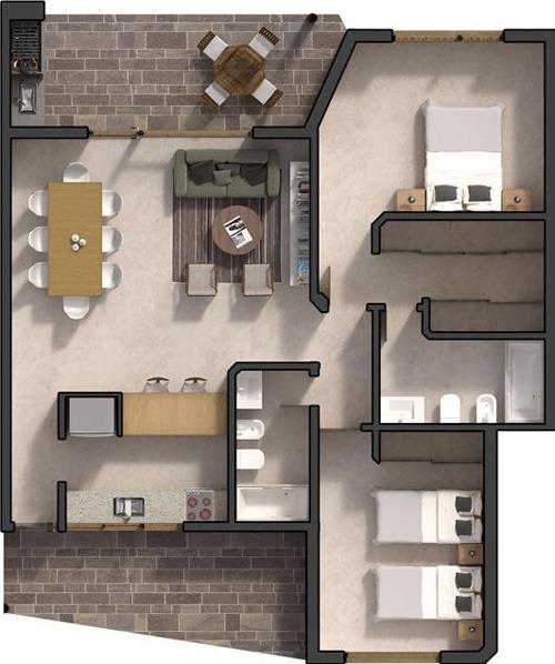 el dorado 2500 p.b.-4 - ingeniero maschwitz - departamentos 3 ambientes - venta