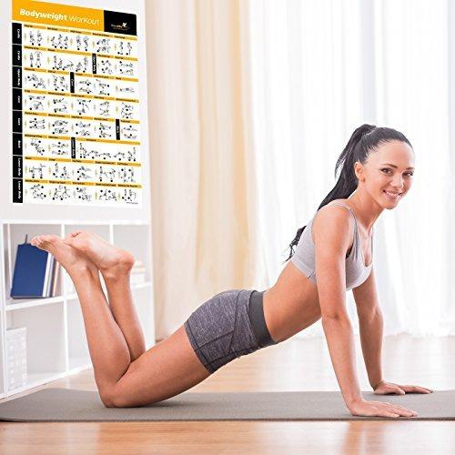 el ejercicio de peso corporal del cartel - total body worko