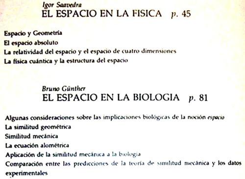 el espacio en las ciencias filosofía física artes / cm eu sm