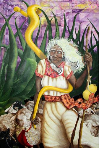 el espíritu de mayahuel pintura al óleo