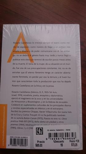 el eterno femenino rosario castellanos 100% nuevo