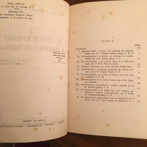 el evolucionismo en filosofia y teologia 1956