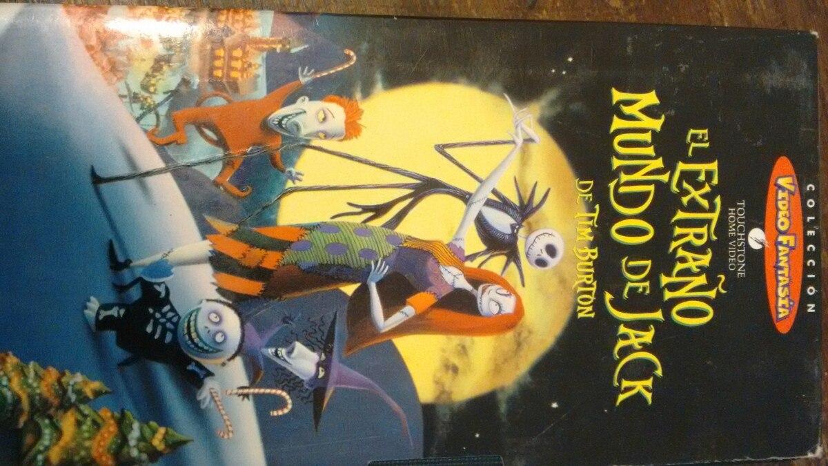 El Extraño Mundo De Jack De Tim Burton. Vhs Video - $ 150,00 en ...