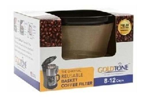 el filtro reutilizable de 8-12 tazas de goldtone se adapta a