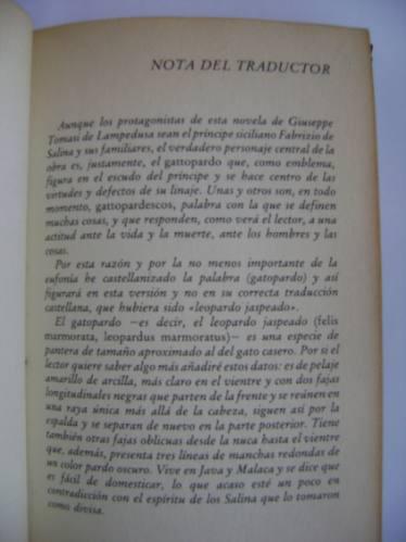 el gatopardo // giuseppe tomasi de lampedusa