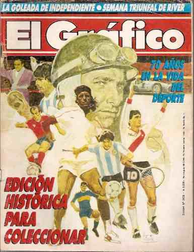 el gráfico 3652 d-70º aniversario/futbol en decadas 1920/80