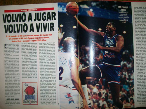 el gráfico 3775 g- volvió magic johnson basket sida / tyson