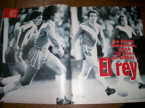 el gráfico 4020 b- diego maradona el rey 20 años de futbol