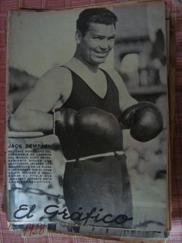 el gráfico 415 18/6/27 jack dempsey ferro poster: platense.