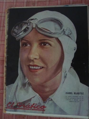 el gráfico 857 14/12/35 gladysz poster: chacarita j gutierre