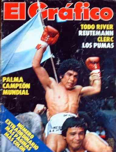 el grafico - boxeo: palma campeon mundial - 1980