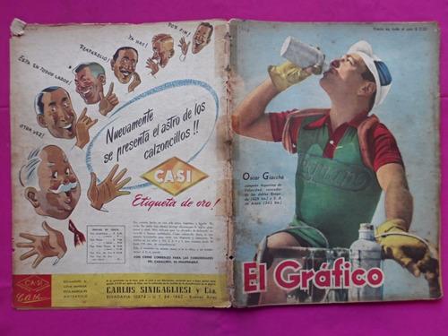 el grafico n° 1446 año 1947, oscar giacche, racing chacarita
