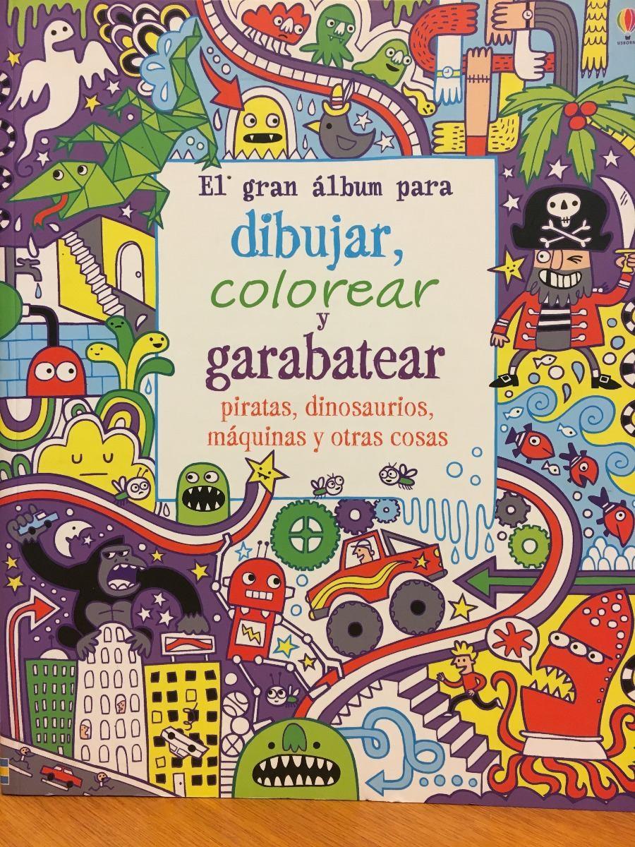 El Gran Album Para Dibujar Colorear Y Garabatear - Usborne - $ 538 ...