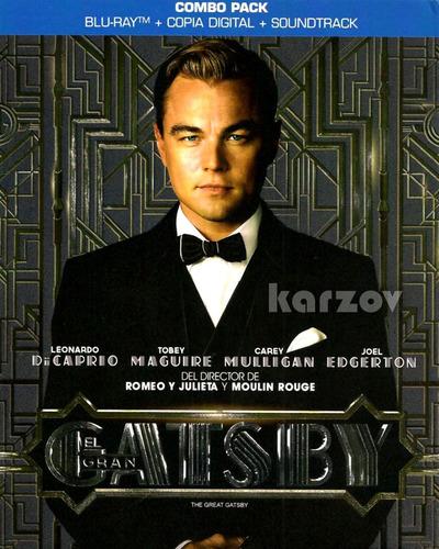 el gran gatsby pelicula soundtrack + copia digital + blu-ray