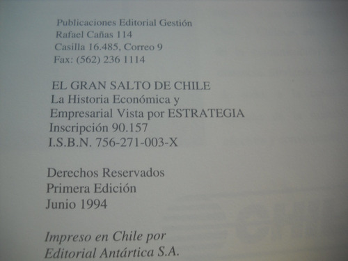 el gran salto de chile 1978 1993