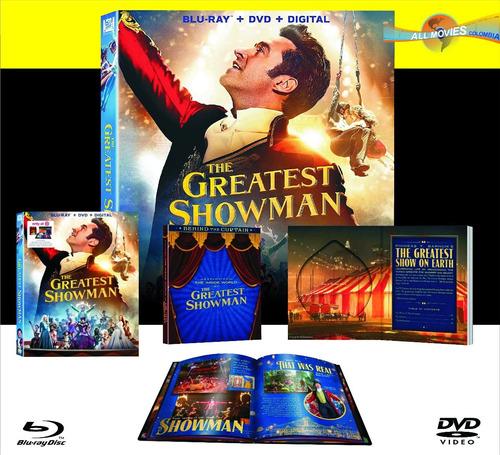 el gran showman ed limitada digibook blu-ray original!!!