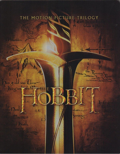 el hobbit trilogia steelbook peliculas blu-ray + digital hd