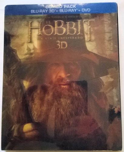 el hobbit un viaje inesperado (3d+ blu-ray+dvd) solo orig.