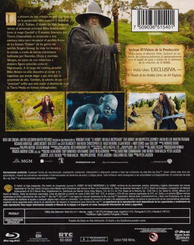 el hobbit un viaje inesperado edicion especial blu-ray + dvd