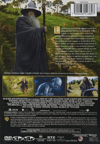 el hobbit un viaje inesperado pelicula dvd