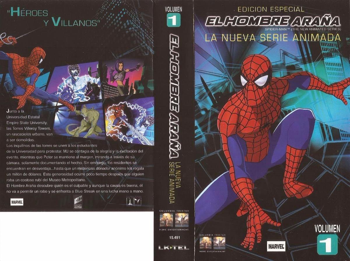 El Hombre Araña Spiderman Dibujos Animados 4 Vhs - $ 150,00 en ...