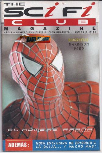 el hombre araña, the scifi club magazine nº 23. biog. notas.