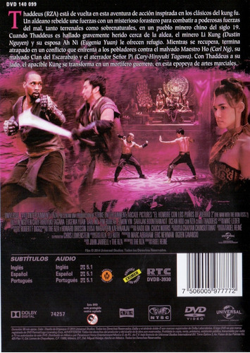 el hombre de los puños de hierro 2 dos pelicula dvd