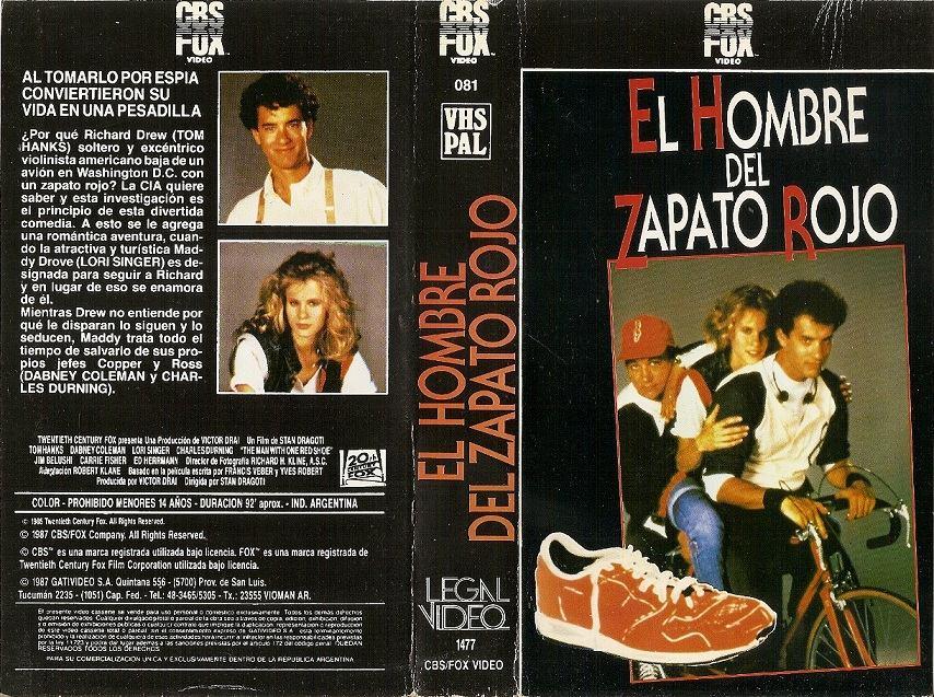 100 1985 Comedia Vhs Zapato Hombre 00 Tom El Rojo Del Hanks En w0qzxT86a