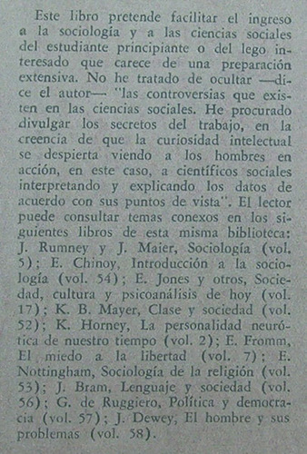 el hombre en la sociedad george simpson / sociología