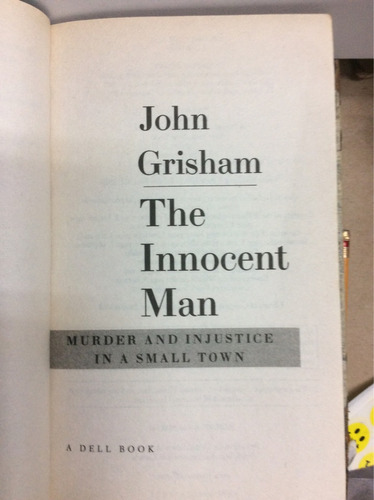 el hombre inocente. john grisham (idioma inglés)