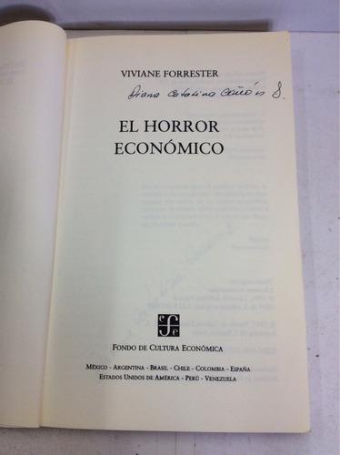 el horror económico, viviane forrester