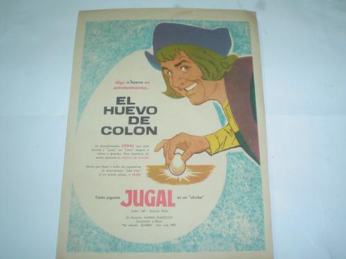 el huevo de colon jugal suarez plasticos publicidad 1961