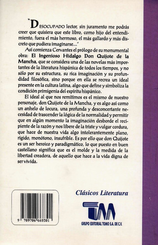 el ingenioso hidalgo don quijote de la mancha - m. cervantes