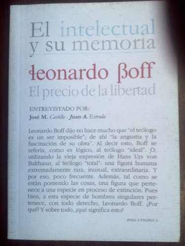 el intelectual y su memoria. leonardo boff (entrevista)