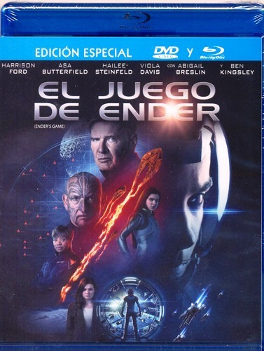 el juego de ender game harrison ford pelicula blu-ray + dvd