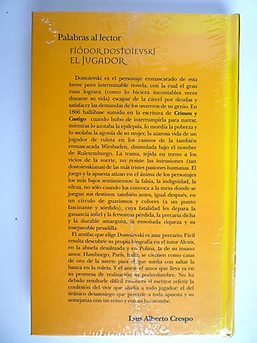 el jugador fiodor dostoievski novela drama. envio gratis.