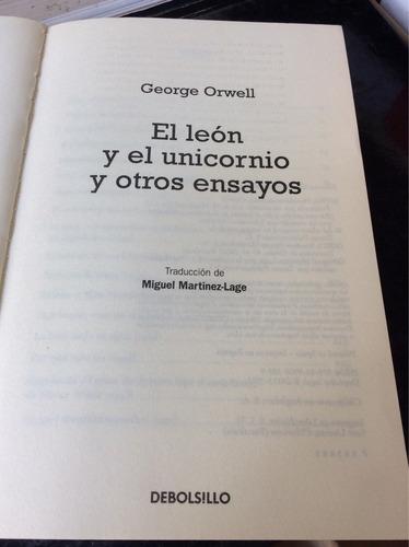 el león y el unicornios y otros ensayos, george orwell