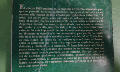 el libro de el diario del juicio. editorial perfil.1985