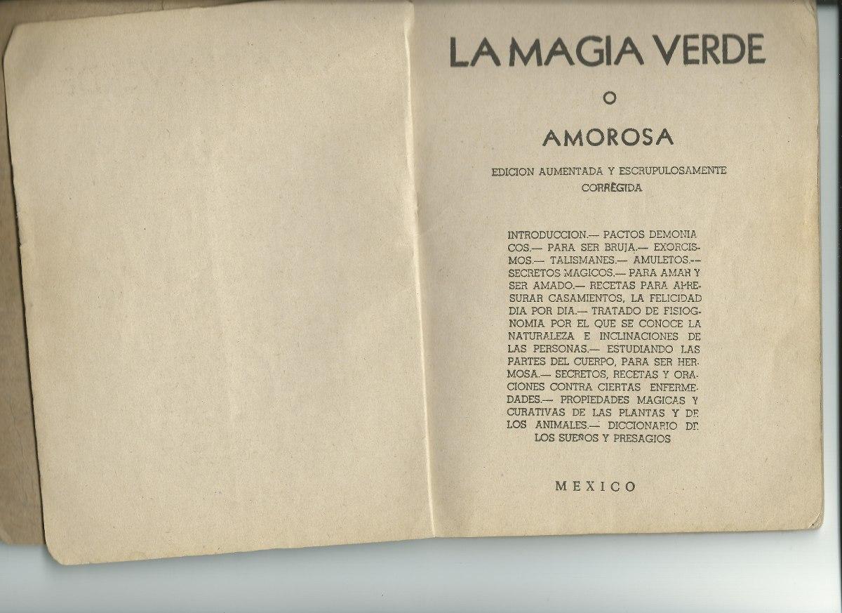 El Libro De Magia Verde - $ 750.00 en Mercado Libre