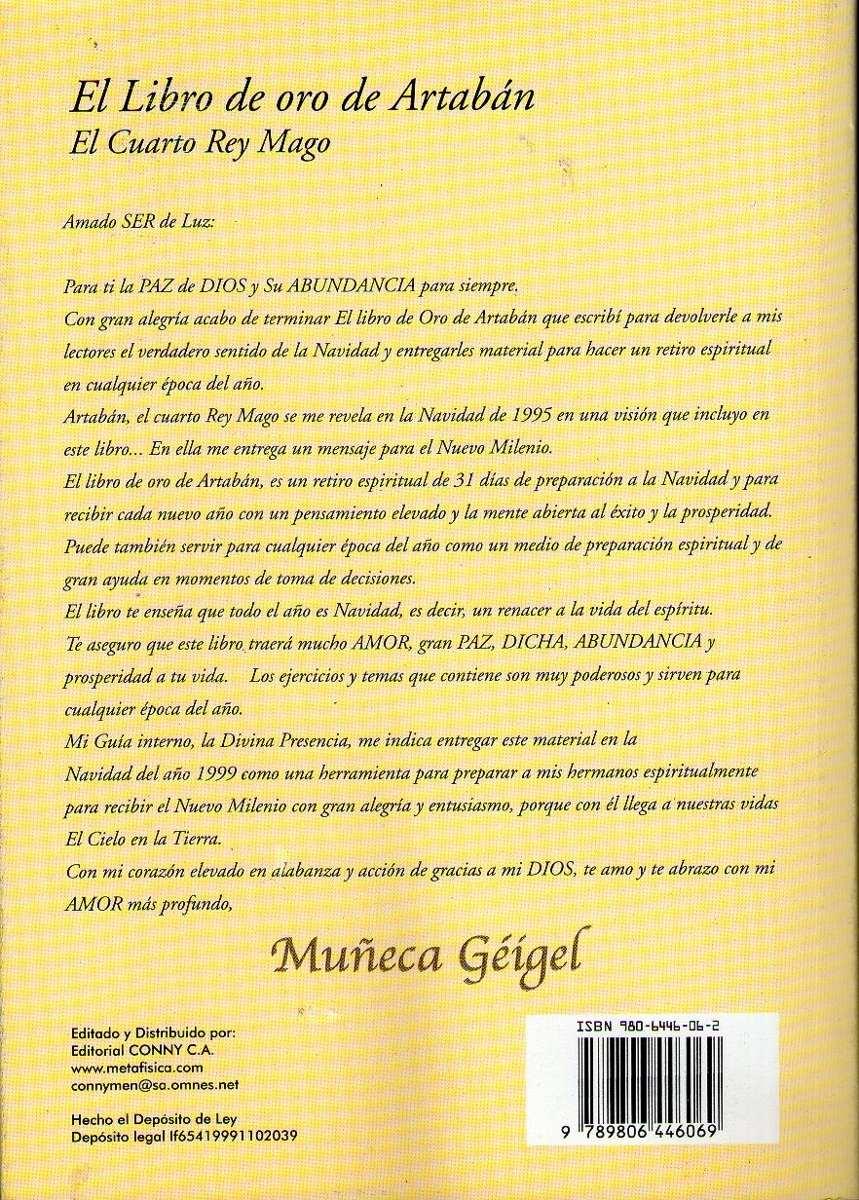 El Libro De Oro De Artaban El Cuarto Rey Mago Muñeca Geigel