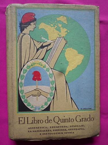el libro de quinto grado - aritmetica, geometria, lenguaje