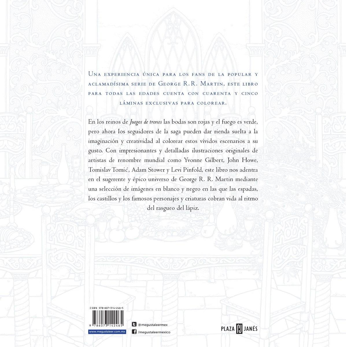El Libro Oficial De Juego De Tronos Colorear Martin G.r.r. ...