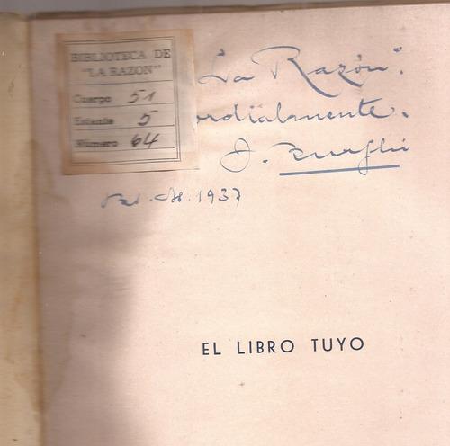 el libro tuyo poesias juan burghi autografiado por autor
