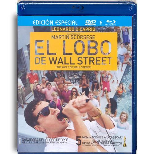 el lobo de wall street dicaprio pelicula blu-ray + dvd